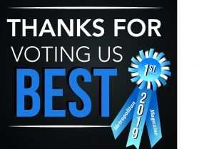 2019 Thanks for Best Voting Ribbon
