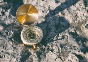 compass-on-stone