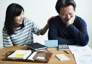 man-woman-finance-happy